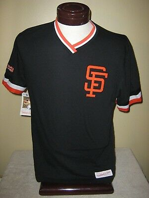 a5352d97221 Mitchell   Ness San Francisco Giants Overtime Win Vintage Black T-Shirt S  Nwt