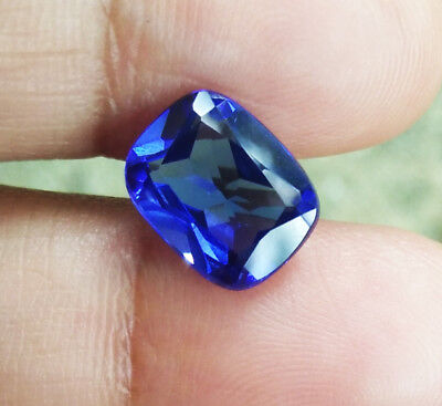 3cts. 10x8 mm. Cushion Blue Sapphire Excellent Cut Great Color Top Corundum Gems