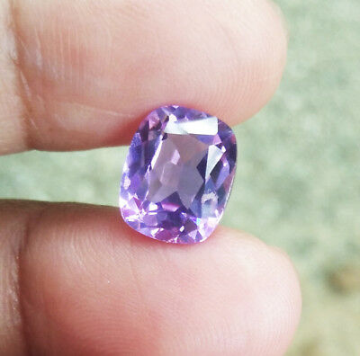 3cts. 10x8 mm. Excellent Cushion Cut Purple Sapphire Great Color AAA++