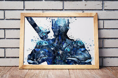 Overwatch Poster Gaming Room Wall Decor Print PC Game Art Gift n063