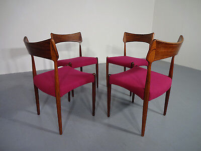 Rosewood Chairs from Bernhard Pedersen & Søn, 1960s, Set of 4