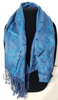Disney Parks Mickey Mouse Icon Blue Frayed scarf