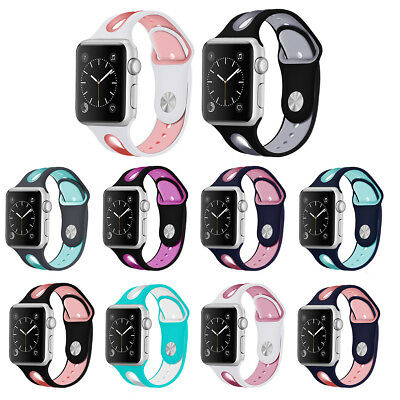 Silicone Wrist Bracelet Strap iWatch Band For Apple Watch Series 3/2/1 38mm 42mm