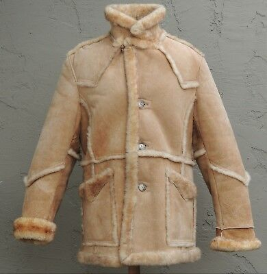 >>ll===Ranch Wear===l> 100% Sheepskin Shearling Leather & Fur Coat (XL)
