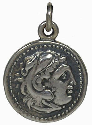 Alexander The Great Hercules Sterling Silver Pendant - Macedonia Vergina King
