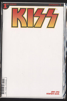 Kiss #1 Blank Sketch Cover Variant Dynamite Authentix