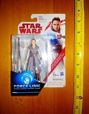 Star Wars Force Link Rey Jedi Training Action Figure w Lightsaber- The Last Jedi