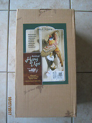 New Wild Wings Pheasant Decorative Wall Hook Hanger Hangup Hang-up New in Box