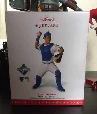 Salvador Perez Hallmark Kansas City Royals MLB Ornament Baseball 2016 2018