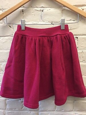 Vtg 80s 8 Rose Pink Thick Pull On Skirt Comfy Twirly Cotton Blend Children Plac