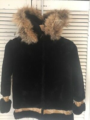 Vintage Handmade Eskimo Parka Mouton? Fur Hood Made In USA Youth Large