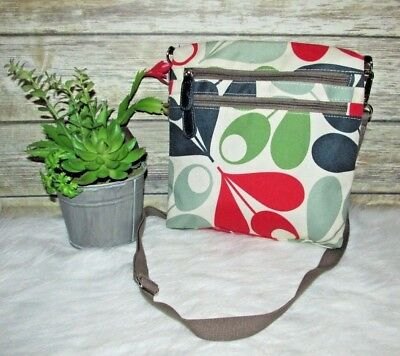 Orla Kiely For Target Acron Cup Multi Color Print Shoulder Bag Purse Crossbody