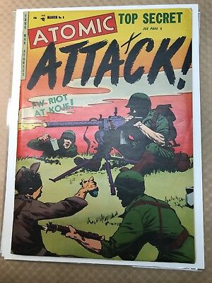 Atomic Attack #6 (1953) 7.0-7.5 OW/W Youthful War High Grade Copy!