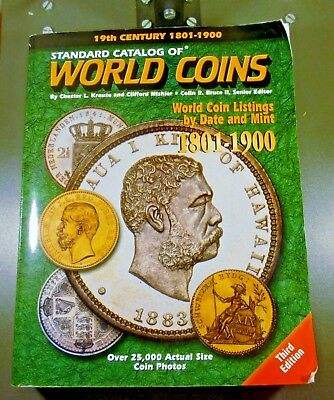 GENTLY USED KRAUSE STANDARD CATALOG OF WORLD COINS - 1801 to 1900 - 3th EDITION