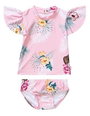 Seafolly baby sets - tropical pink 6 months - 3 years BNWT