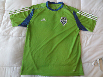 check out 44436 ea553 2010 ADIDAS SEATTLE Sounders FC Jersey Shirt Green MLS Large Soccer Futbol