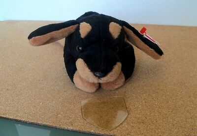 Ty Beanie Babies--Doby Doberman Dog---Mint Condition--1996 Pvc Retired-- Plush