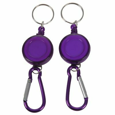 2 Pcs Badge Reel - Retractable Recoil Yoyo Ski Pass Id Card Holder Key Chain Tp