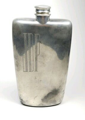 Vintage Abercrombie & Fitch James Dixon & Sons Hip Flask Model 72 17oz Plated