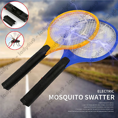 Electric Bug Zapper Tennis Racket Mosquito Fly Swatter Killer Insect Handheld