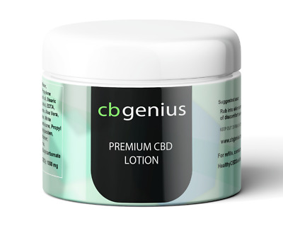 CBGenius CBD Cream Severe Muscle & Joint Relief 2oz / 1000mg - 1250mg CBD Jar
