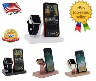 2 in 1 Charging Dock Stand Bracket Accessories Holder For iPhone Xs Max X iWatch