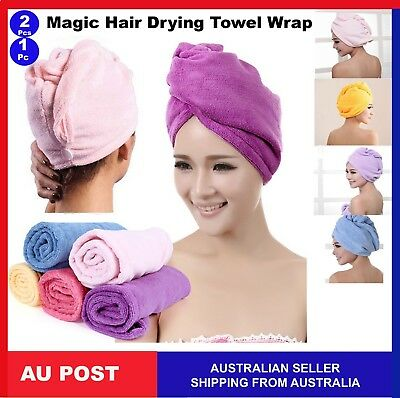 Magic Hair Drying Wrap Cap Microfibre After Shower Turban Towel Quick Dry Hair