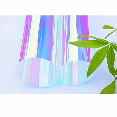 Rainbow Effect Dichroic Iridescent Glass Sticker window film 45cmx45cm Sample
