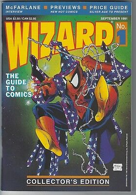 WIZARD GUIDE TO COMICS (1991) #1 NM w/ POSTER - McFARLANE SPIDER-MAN COVER