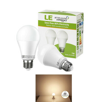 40 Watt Equivalent A19 LED Light Bulb 2700K Warm White 450lm Non-dimmable 2 Pack