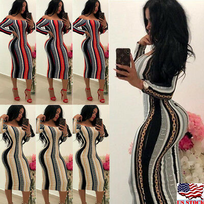 US Sexy-Women-Long-Sleeve-Bandage-Bodycon-Evening-Party-Cocktail-Club-Mini-Dress