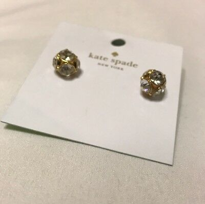 aac5b0c43 Kate Spade Gold Plated Lady Marmalade Clear Diamond Sphere Stud Earrings