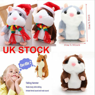 Cheeky Hamster Talking Mouse Pet  Toy Speak Sound Record Hamster Gift