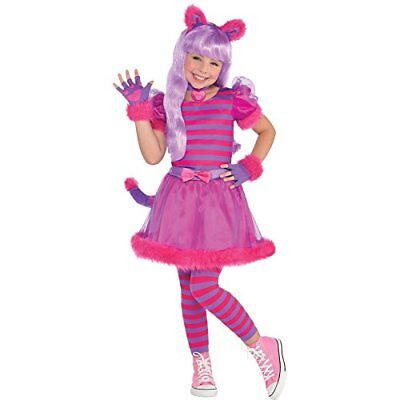 Multicoloured 8-10 Years Cheshire Cat Costume Age 8-10 Giocattolo (mje)