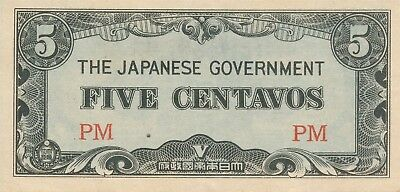 Currency Japan Philippines 1942 WWII Occupation 05 Five Centavos Note Circulated