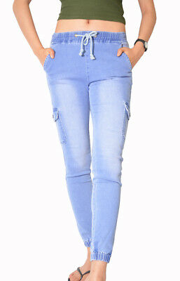 Wakee Women's Chinos In Mid Blue. Size 6-18