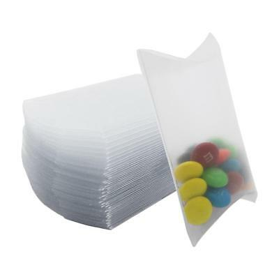 100X Wedding Favor Box Cute Craft Paper Pillow Party Favour Gift Cake Candy Bag