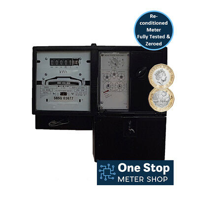 Sangamo Electric Coin Meter - Accepts £1 Coins - 60 Amp - Fully Tested