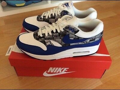 "NIKE AIR MAX 1 Atmos ""We Love Nike"" Print Pack EU  42,5 US  9 UK  8 ... Üppiges Design"