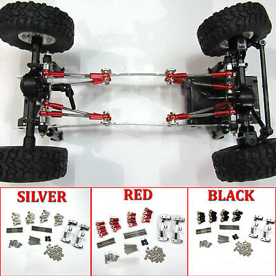 Metal Toe Link Pull Rod + Base Seat Kit Upgrade Part for 1/16 WPL C14 C24 RC Car