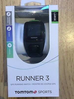 TomTom Runner 3 Cardio GPS Sports Watch (with Heart Rate) and Music