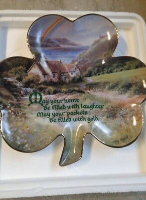 NEW Franklin Heirloom Scottish Shamrock with Rainbow Numbered Collectable PLATE