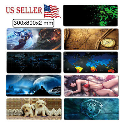 Extended Gaming Computer Mouse Pad Wide Large Size Desk Keyboard Mat 800 X 300MM