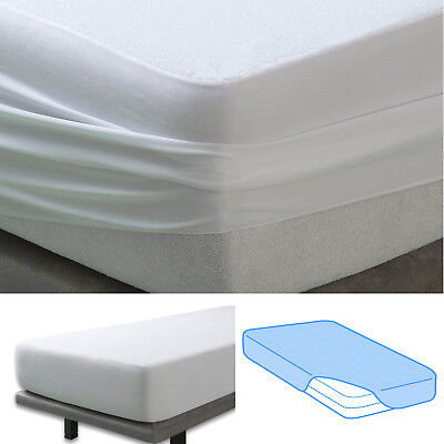 Terry Towel Waterproof Mattress Protector Cover Fitted Plastic Sheet Bed Wetting