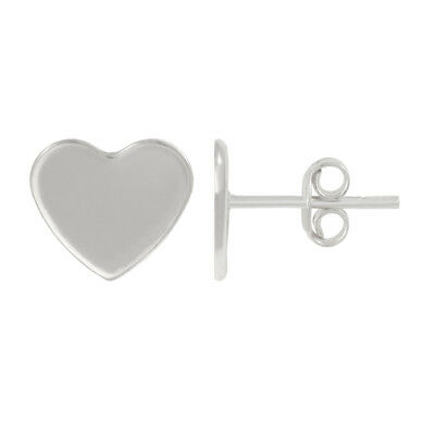 Sterling Silver Earrings Stud Posts for Gluing 2808 10mm Heart Crystals