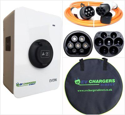 22kw Electric Car EV Charge Point + Type 2 Cable COMBO PACK 32a 3-phase Charger