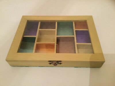 Painted wooden jewellery box