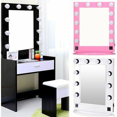 Chende Tabletops Vanity Mirror with Lights Hollywood Style with 12 LED bulbs VP
