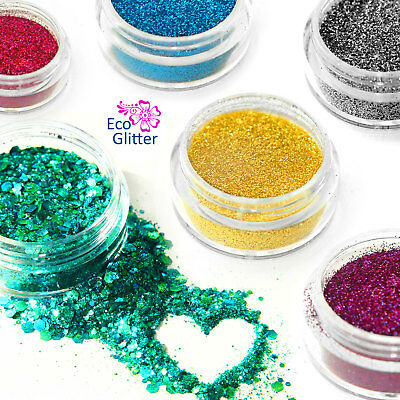 BIODEGRADABLE Glitters Chunky & Fine BUY 3 GET 3 FREE! Eco Bio Sparkle craft kc