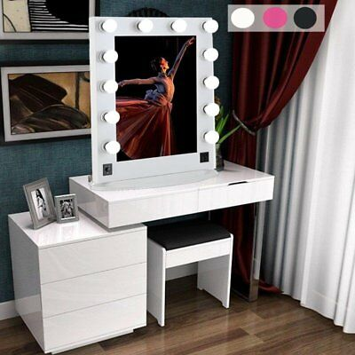 Chende Tabletops Vanity Mirror with Lights Hollywood Style with 12 LED bulbs EK